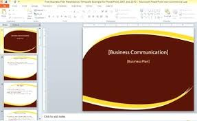 Microsoft Powerpoint Templates 2007 Free Download Business Themes Free Plan Presentation Template For And Download