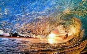 sunlight, sunset, sea, water, nature ...