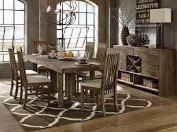 adler rectangular rustic dining table with 6 dining chairs