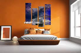 Modern Art Bedroom 4 Piece Blue Modern Ship Multi Panel Art