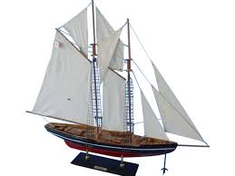 wooden bluenose model sailboat decoration 35
