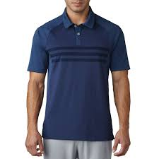 Image result for adidas Golf climacool 3 Stripe Competition Polo Shirt