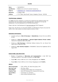 Resume Example User Experience Resume For Study