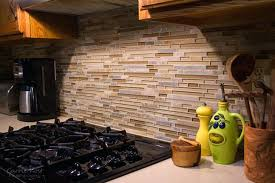 mosaic kitchen backsplash image via glass mosaic