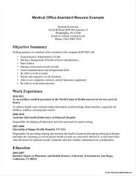 Example Of Medical Assistant Resume Resume Template Medical Office Assistant Resume Resume