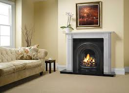 georgian roundel in antique white marble with stovax decorative arched insert in matt black
