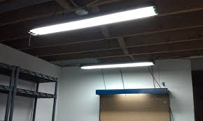best fluorescent light fixtures garage lighting designs