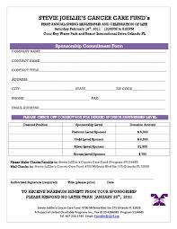 Sponsor Sheet Template Barca Fontanacountryinn Com