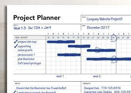 Ultimate Project Planner Gantt Chart