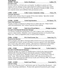 Culinary Cover Letter Examples Sample Resume Chef Resume Example