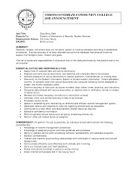 Data Entry Clerk Job Description Resume data entry description for resume best solutions of job data entry 1
