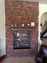Stone Fireplace Remodel Faux Stone Fireplace Remodel