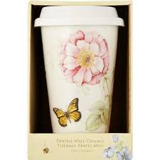 Floral coffee mug lenox wayfair north america $ 46.99. Lenox Porcelain Coffee Tea Cup Mug Style Fun Retro Design With Silicone Lid No Paper