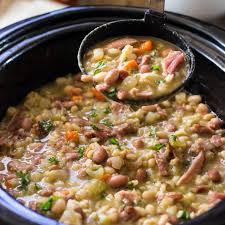 slow cooker ham bone bean soup kevin