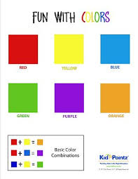Basic Color Chart For Kids Colors Worksheet Young Children Kid Pointz