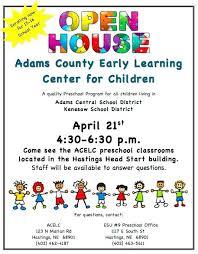School Open House Brochure Template Image Result For Preschool Flyer ...