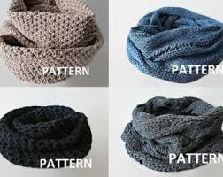 Knit Infinity Scarf Pattern Cool KNITTING PATTERN Knit Infinity Scarf Pattern Eternity Scarf