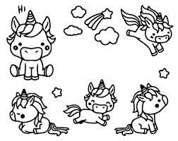 Disegno Da Colorare Kawaii Unicorni 10