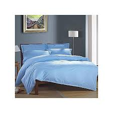 5 6 satin stripes duvet cover set with one bed sheet and four pillow cases