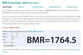 Basal Metabolic Rate Bmr Chart Basal Metabolic Rate 1764 Calorie Needs To Lose Weight T