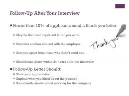 Follow Up After Submitting Resume Cool Thank You Letter After The