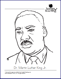 Small Picture MLK JR Coloring Page Songs For Teaching