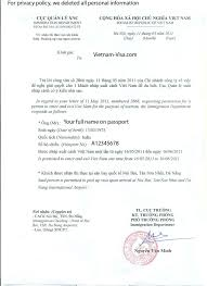 Sample Invitation Letter For Business Visa To Vietnam