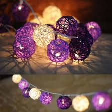 Purple Balls For Decoration Simple YIMIA Purple White 32m 32 Balls LED String Fairy Light Rattan Balls