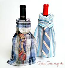 How To Decorate A Wine Bottle For Christmas How to make dress shirt and tie wine bottle gift bags Hometalk 85