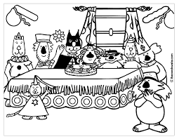 46 Coloring Pages Party Halloween Kids Going To Halloween Party