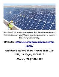 Solar Panels Las Vegas - Quotes From Best Solar Companies .