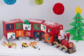 how to make a colourful advent train