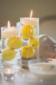 Creative Idea:Table Centerpieces Idea With Yellow Lemons On Concrete Box  Creative Lemon Centerpieces In