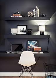 office floating shelves. 40 Floating Shelves For Every Room! Office Floating Shelves