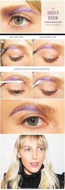 festival makeup tutorials festival makeup the under brow awesome glitter and rhinestone make