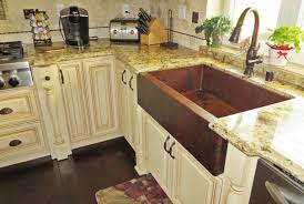 33 inch single well farm house sinks in copper for bathroom decoration ideas