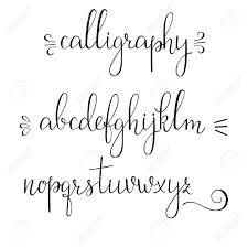 Handwritten Pointed Pen Ink Style Modern Calligraphy Cursive