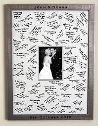 Large Engraved Framed Guest Signing Board Wedding Guest Book Frame