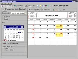 Clander Maker Custom Calendar Maker Large Screenshot