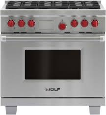 wolf 36 inch single oven range stainless steel lp df366 lp