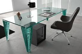 glass office furniture. All Glass Office Desk And Black Chair With Arms Also Portable Storage Cabinet: Furniture