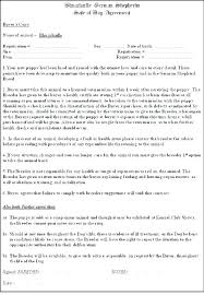 Pet Sitting Instructions Template Pet Contract Template