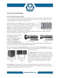 Screw Thread Design