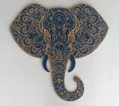 mandala elephant engravedmandala wood