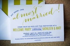 welcome party invitation wording bahamas wedding welcome party invitations i custom by nico and