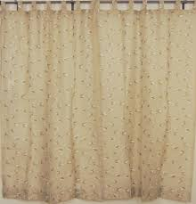 tab top sheer panels 2 embroidered ecru decorative window curtains india style