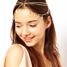 Hairband Hairstyle fashion summer women lady metal rhinestone head chain jewelry 4380 by wearticles.com