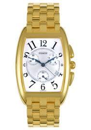 coach men s morgan chronograph yellow gold plated