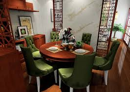 chinese dining room round table 3d