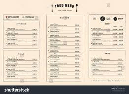 Menu Design Template Restaurant Menu Design Template Layout Logo Stock Vector 24 20